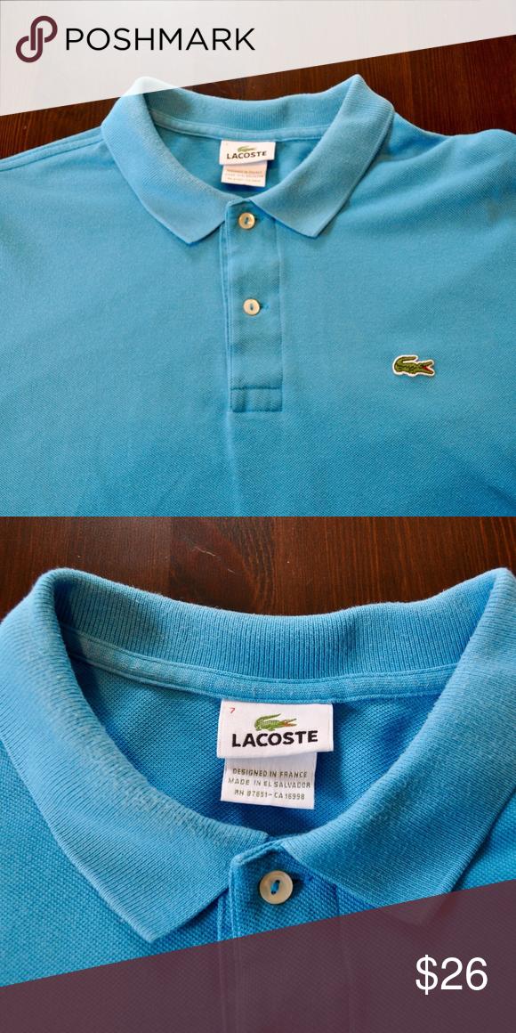 Lacoste Men's Blue Polo Shirt Size 7 Lacoste Mens Blue Short ...