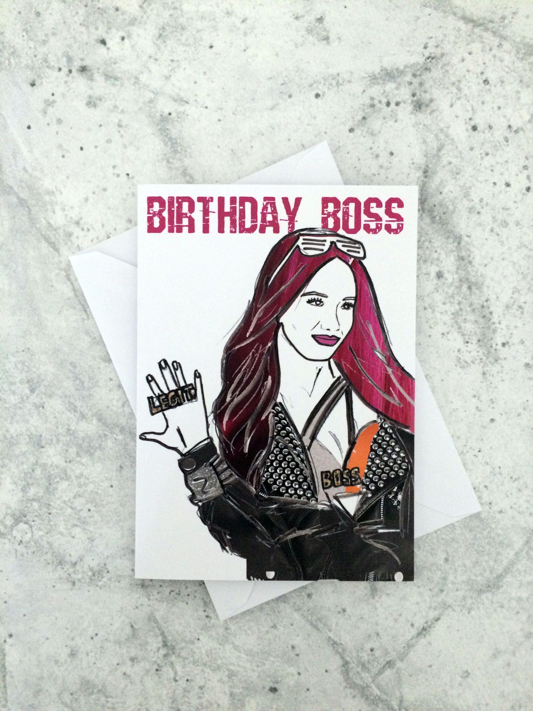 Birthday Boss- Wrestling Sasha Banks inspired card/invitation by ...