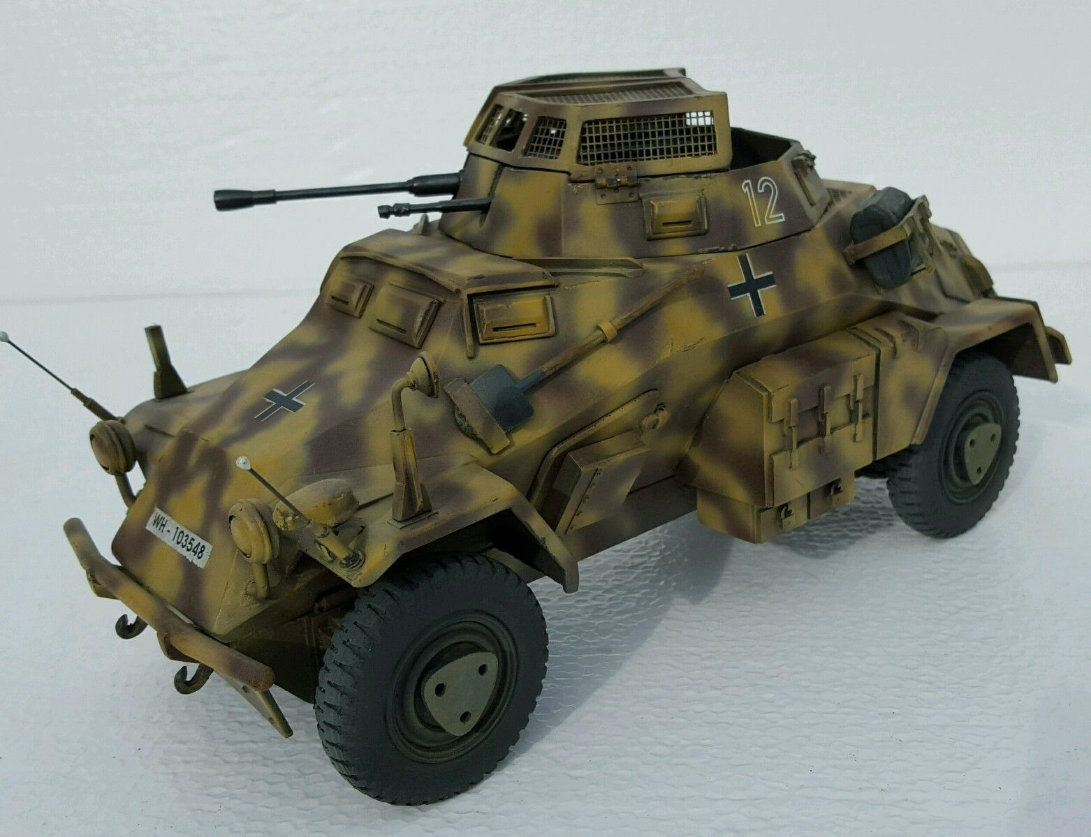 1/18 scale Custom Ultimate Soldier German 222 Armoured Car ...