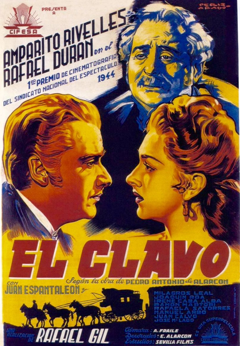 #EllClavo, 1944. Movie poster designed by #PerisAragó.
