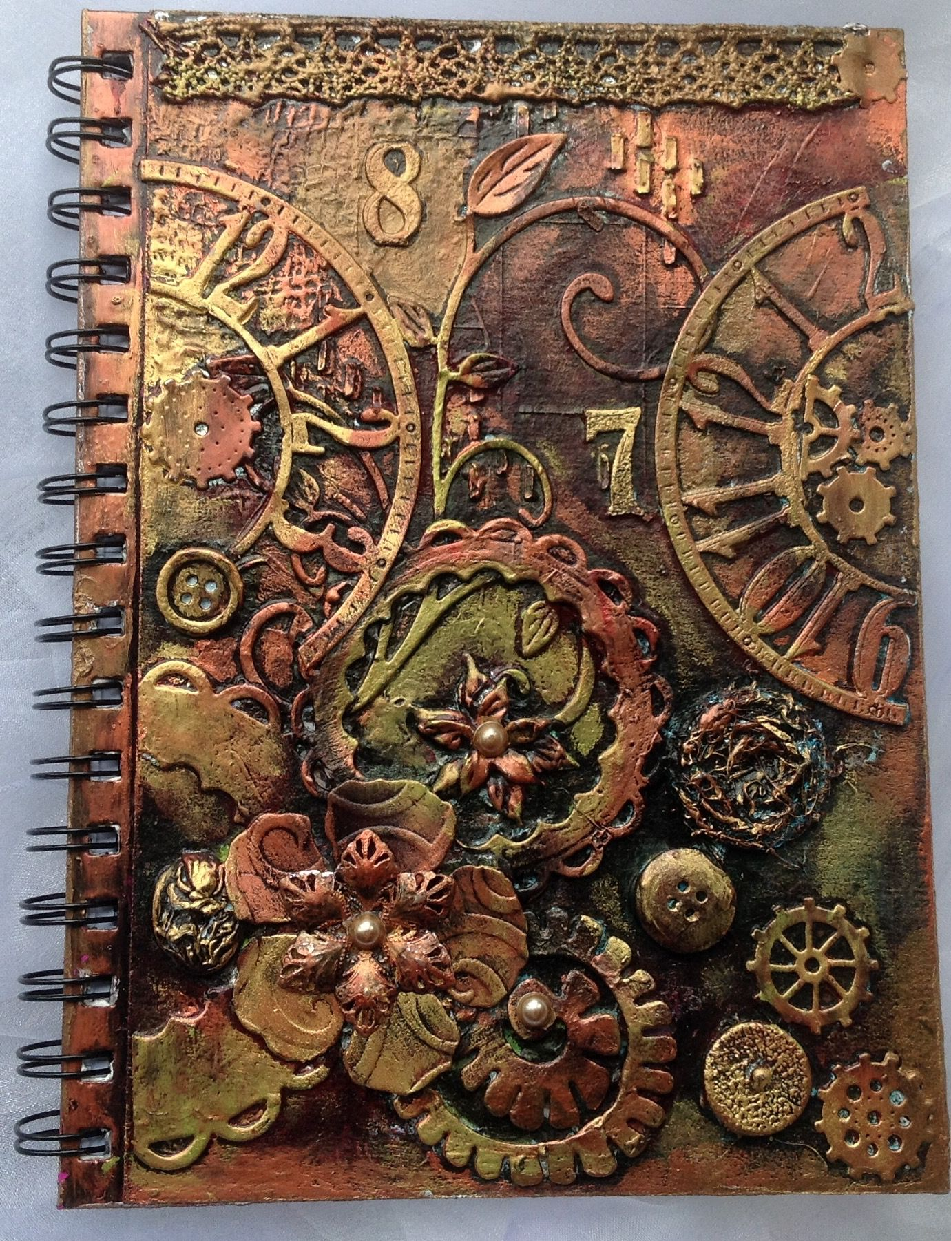 Hand crafted Journal notebook Etsy: Botanical21