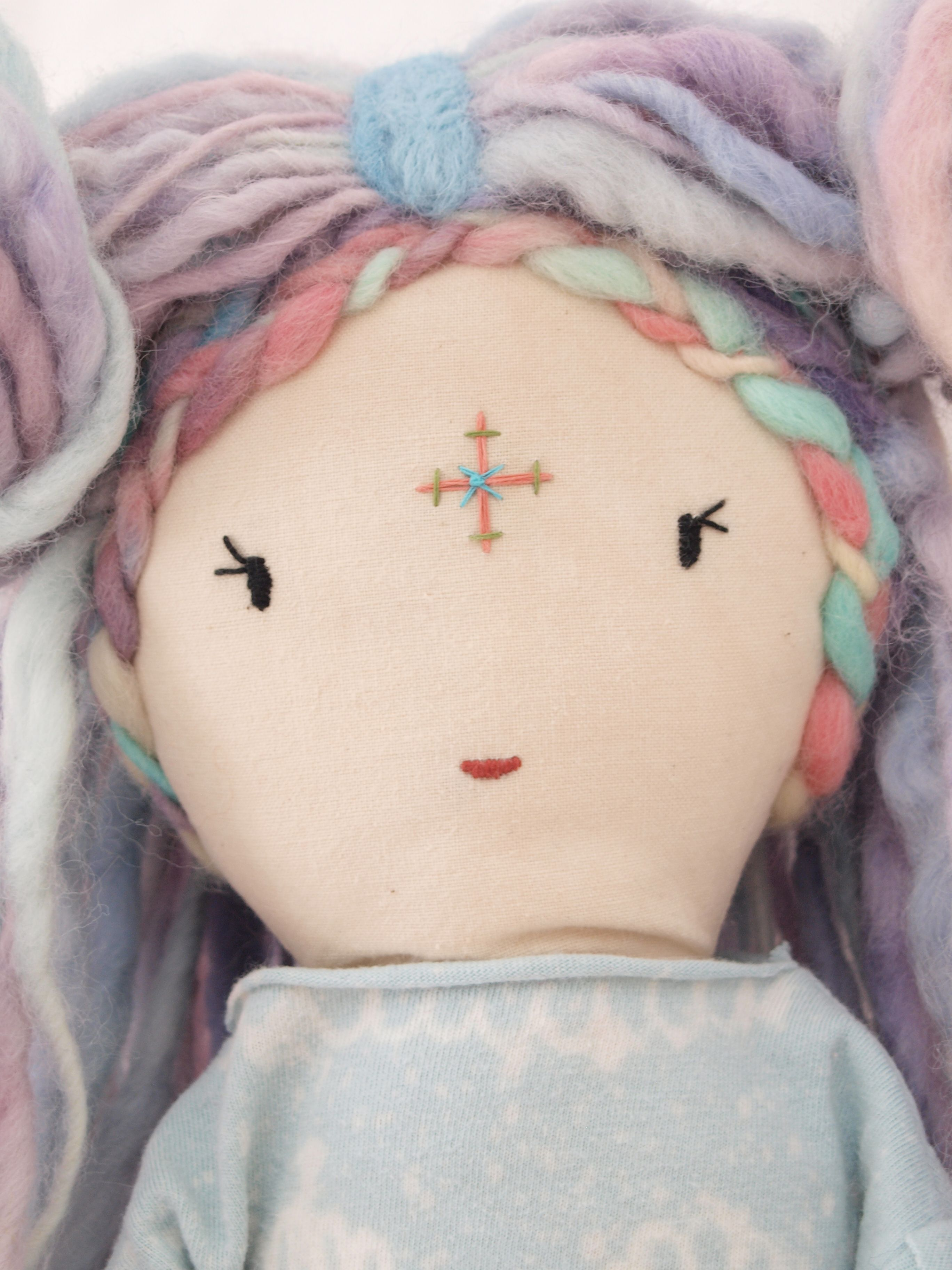Close-up of Rayne Doll by Lily Blaise
