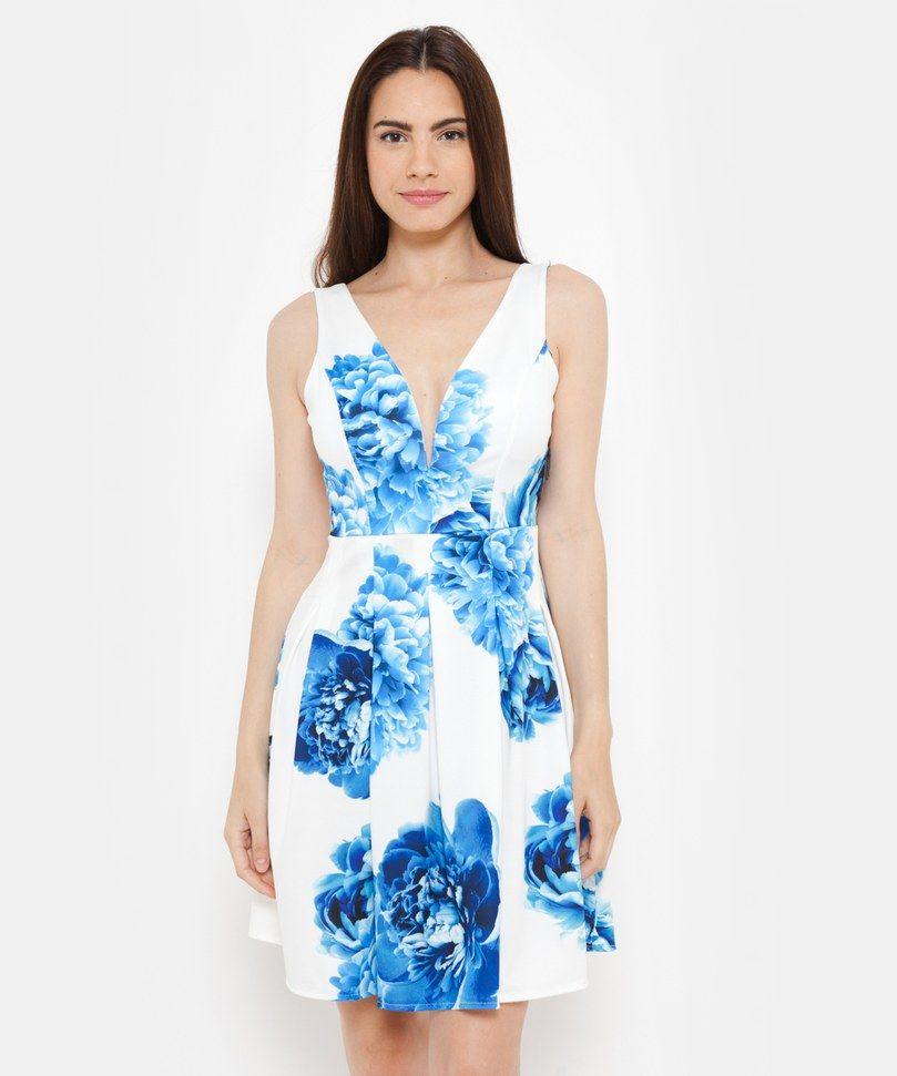 c259709579 imagenes-de-vestidos-estampados-en-flores -para-mujeres-elegantes-y-cortos-para-fiestas-2