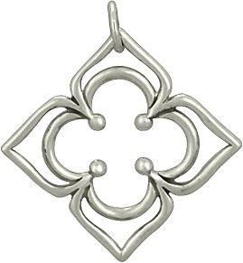 Sterling Silver Petaled Clover Link from Nina Designs