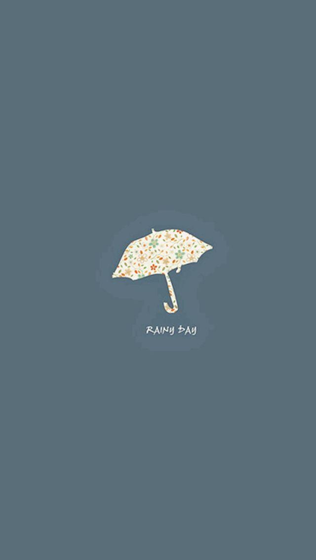 Rainy Day Umbrella Simple Minimal Iphone Wallpapers Achtergrond