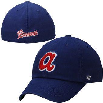 Men S 47 Royal Atlanta Braves Cooperstown Franchise Fitted Hat Atlanta Braves Braves Atlanta Braves Baseball