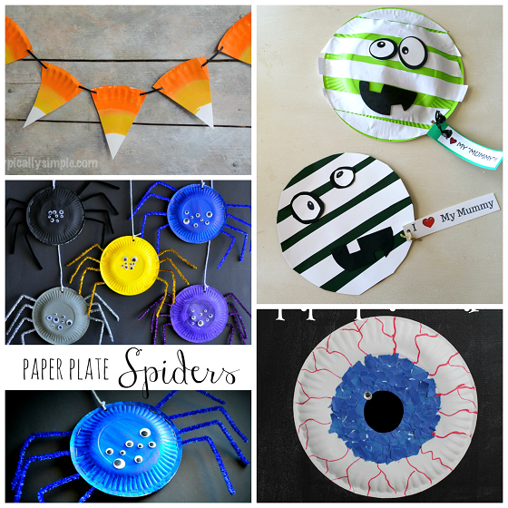 Lovely Cheap Halloween Crafts For Kids Part - 14: Paper Plate Halloween Crafts For Kids