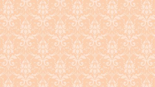 Peach Color Wallpaper for Damask Pattern Colorful