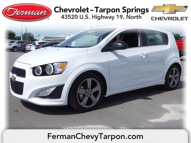 2015 Chevrolet Sonic Rs Summit White Manual Transmission
