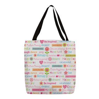 Thumbprintz 'Happy Day Words' Colorful Printed Tote
