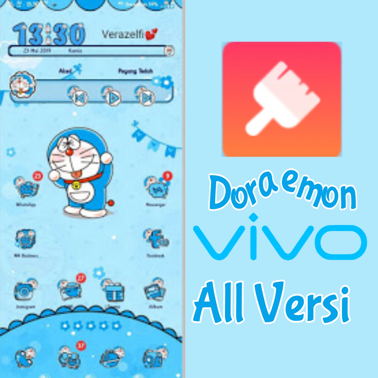 Download Tema Wallpaper Doraemon Doraemon