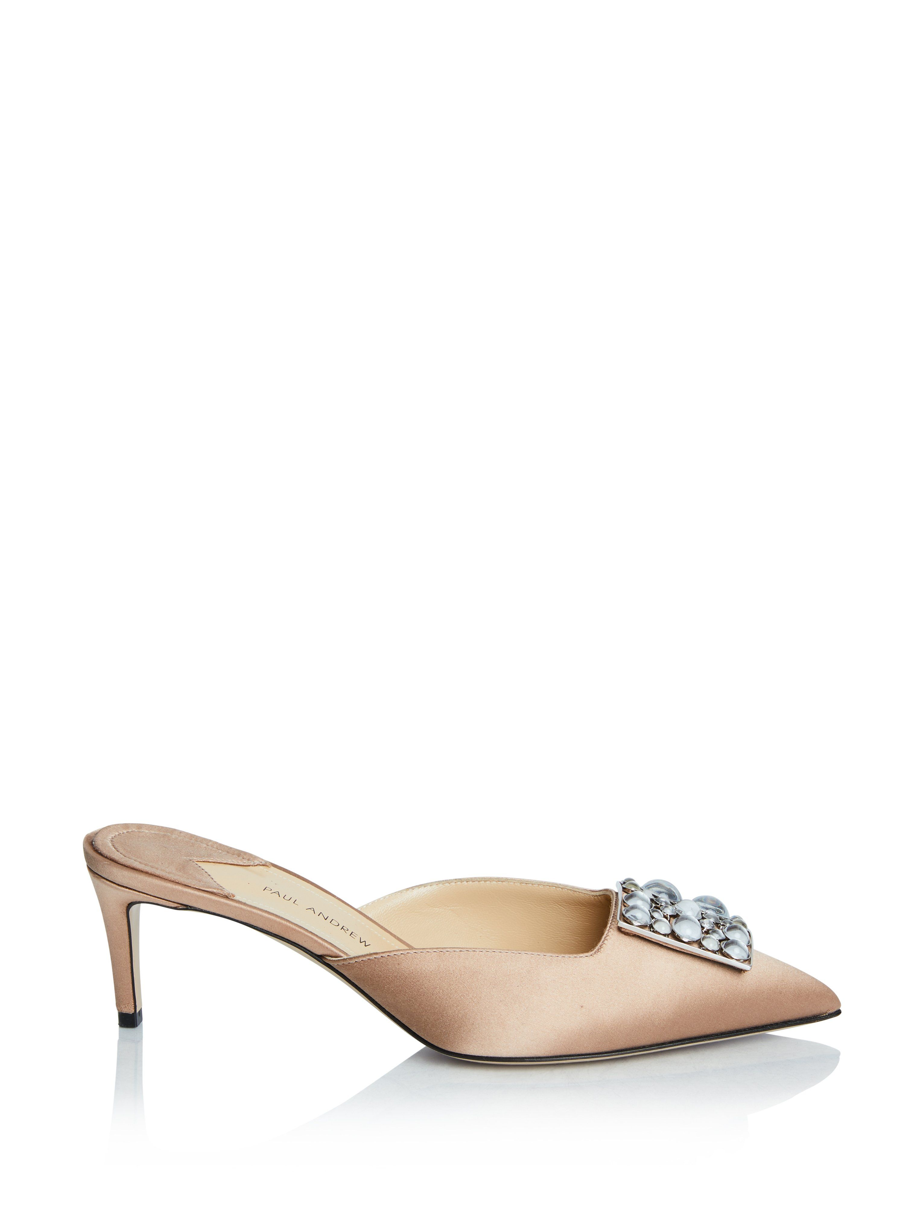 aeb306522ac Purchase Lilia Embellished Satin Mules featured by Paul Andrew. As always  enjoy Free Shipping with