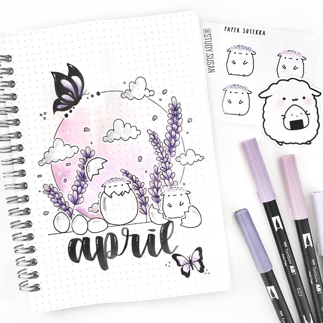 April Cover Page 💜 My Theme For This Month Is Lavender