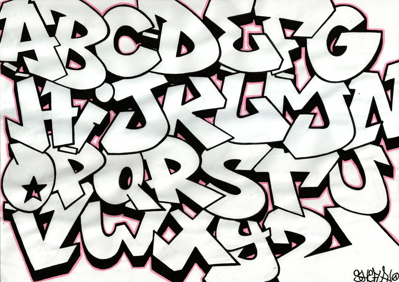 how to draw graffiti letters a z graffiti alphabet