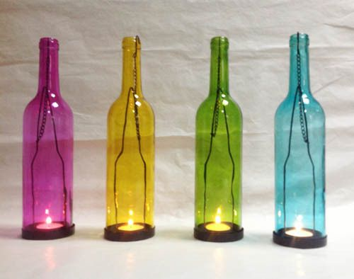 Sale H=11.81''' 4 Colors Glass Candle Holder, Tealight Holder, Hanging Candlestick, Handing Candle lanterns, Interior Decoration $17.37