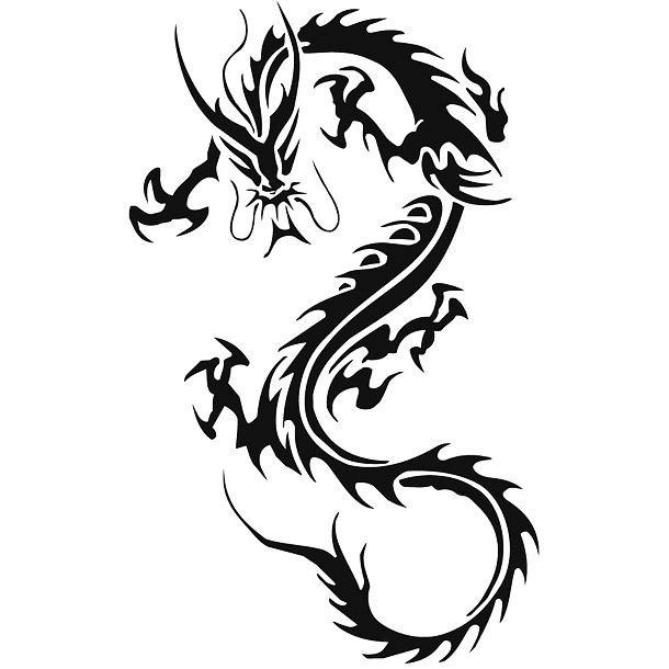 Tribal Chinese Dragon Tattoo For Men Tattoo Design Dragon Tattoos For Men Tribal Dragon Tattoos Dragon Tattoo