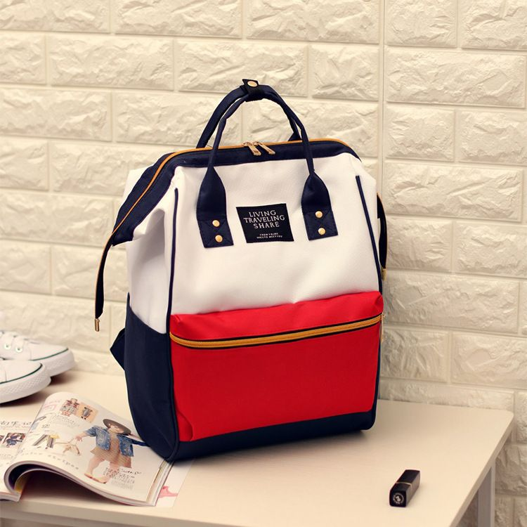 997553071462 2017 Canvas Printing Backpack Women School Bag Teenage Girls Cute Bookbag  Vintage Laptop Backpacks Female hand