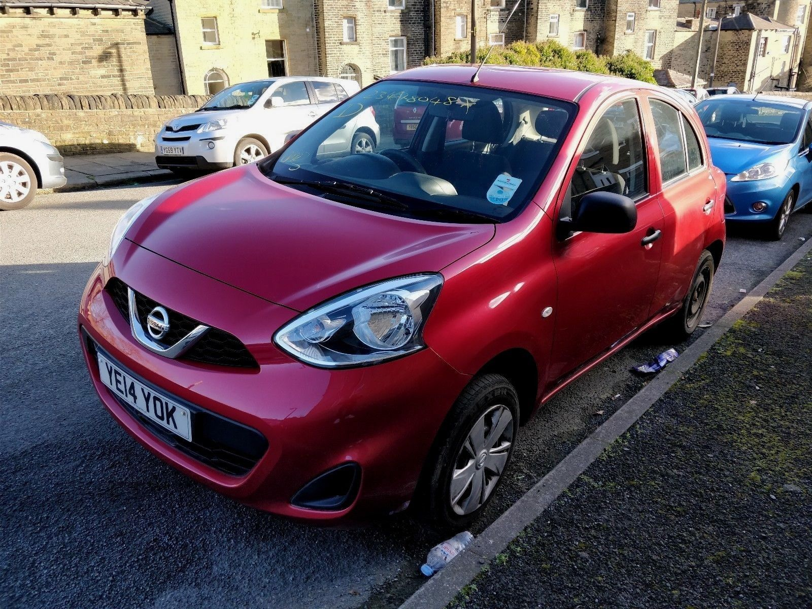 2014 Nissan Micra Visia 1 2 Pure Drive Red Low Miles FSH Bargain