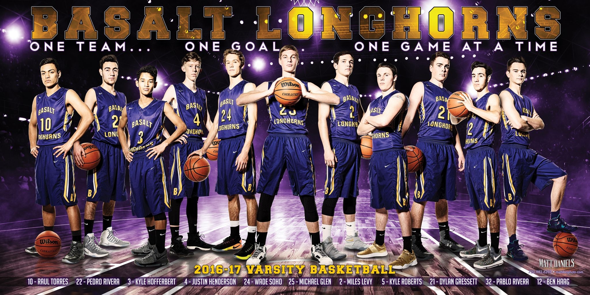 Photography And Banner Design For The 2016 17 Basalt Boys