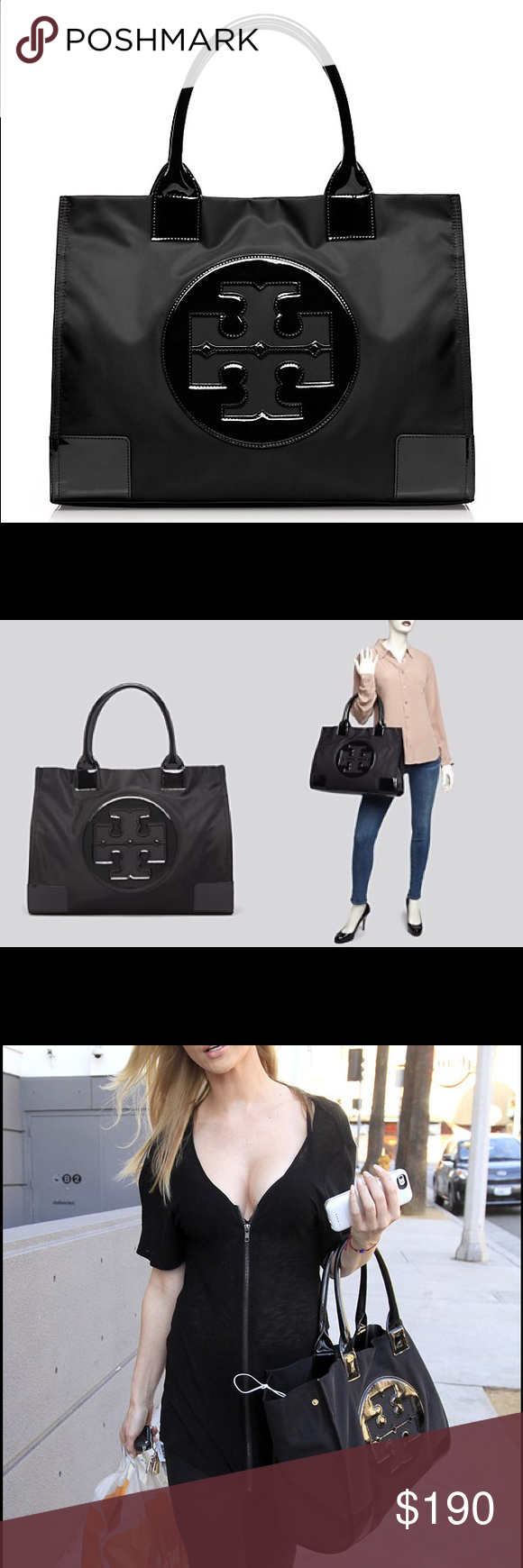 🎉NEW Tory Burch Ella Tote New Tory Burch Ella tote in black Tory Burch Bags Totes