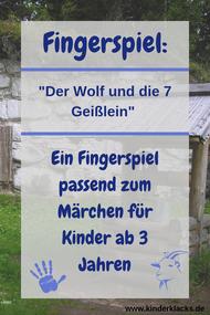 Fingerspiel: Der Wolf und die sieben Geißlein