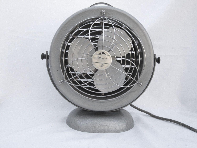 Vintage Fan Industrial Heater Fan Mid Century Retro Table Fan Heater Air King Vintage Fans Heater Fan Retro Table