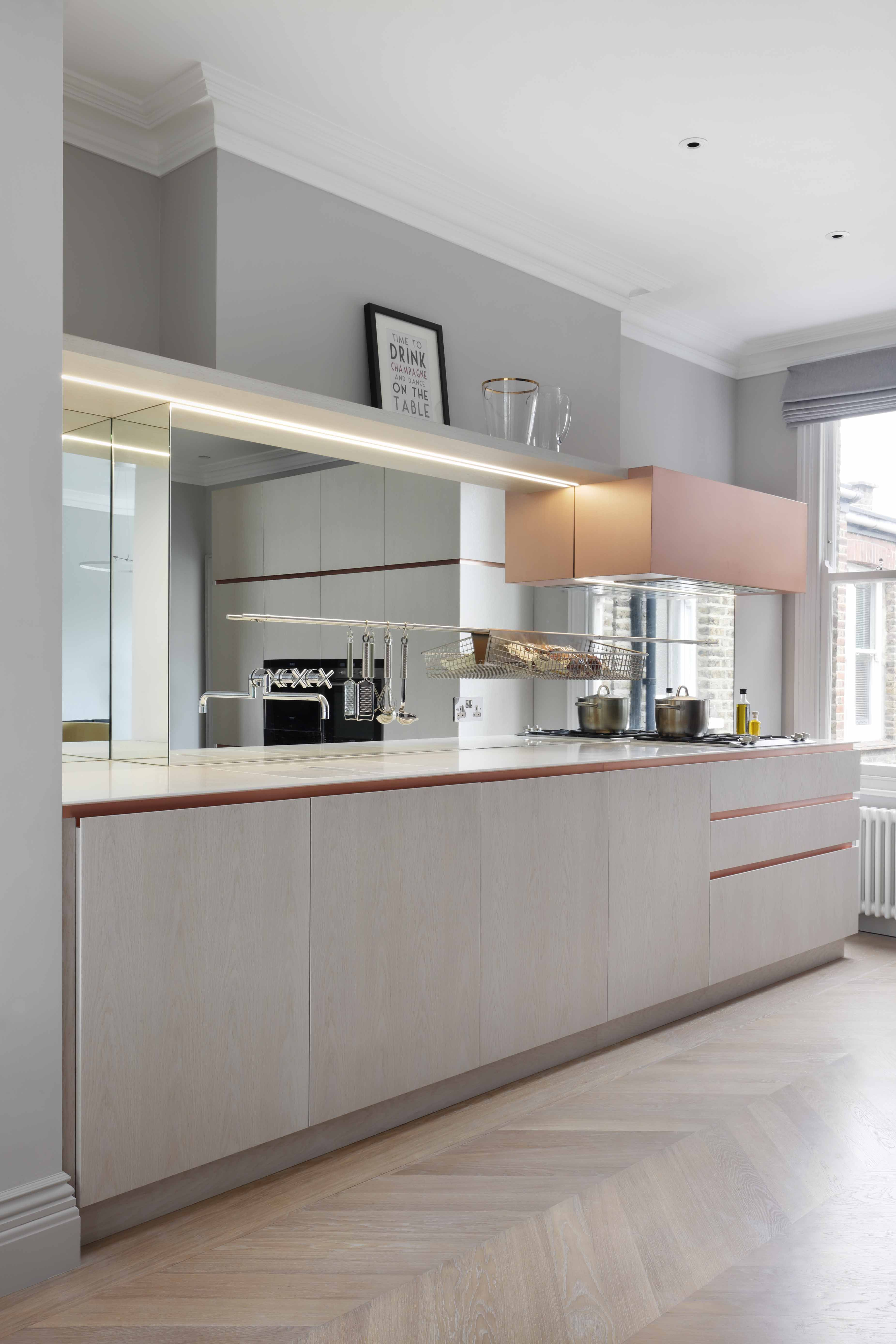 A London kitchen loaded with brass accents | Batcave | Pinterest | Küche