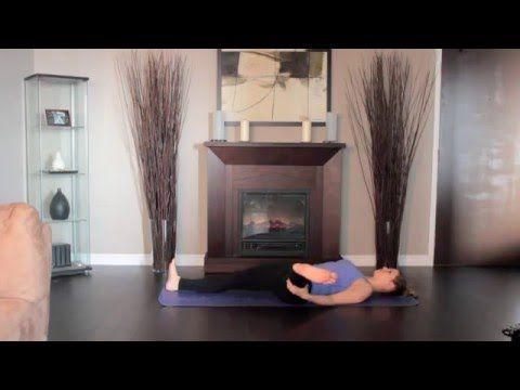 hamstring stretch  left beginners yoga warm up  downward