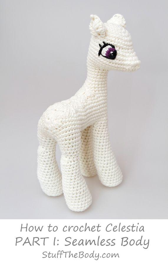 seamless my little pony celestia free amigurumi pattern modification ...