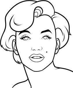 how to draw marilyn monroe easy step 8