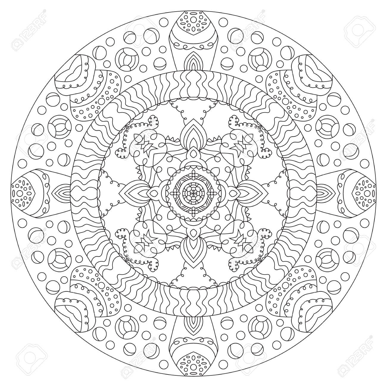 Pin by gena andreano on coloring mandala s pinterest