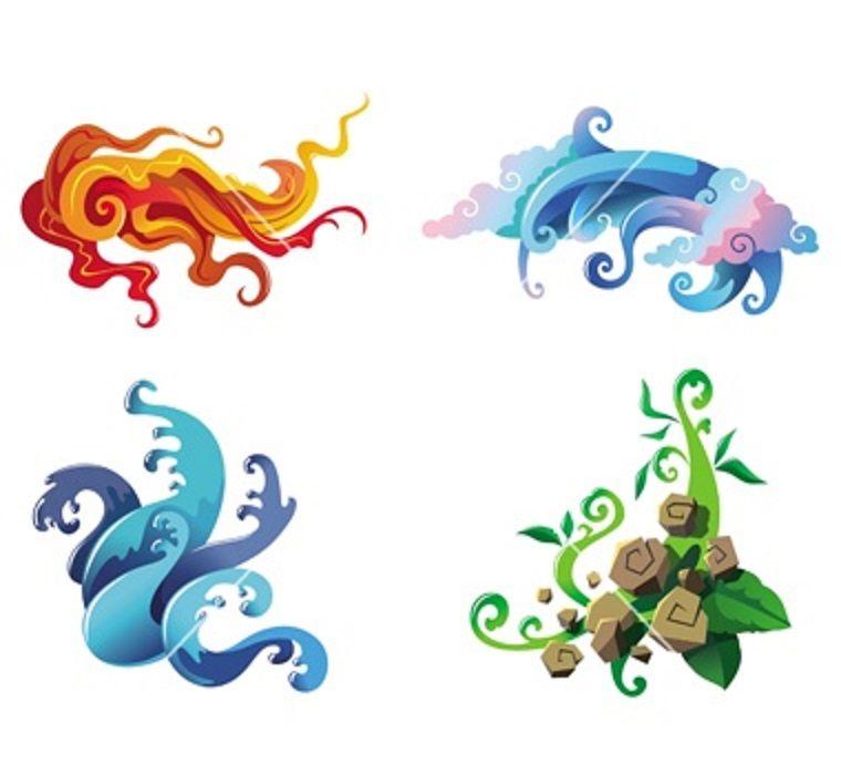 Les 4 éléments Elements - Elementos Pinterest Tattoo, Symbols - best of periodic table of elements vector