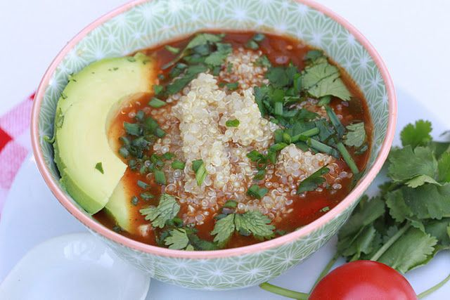 Spicy Mexican Quinoa Soup Quinoa Soup Mexican Quinoa Healthy Recipes