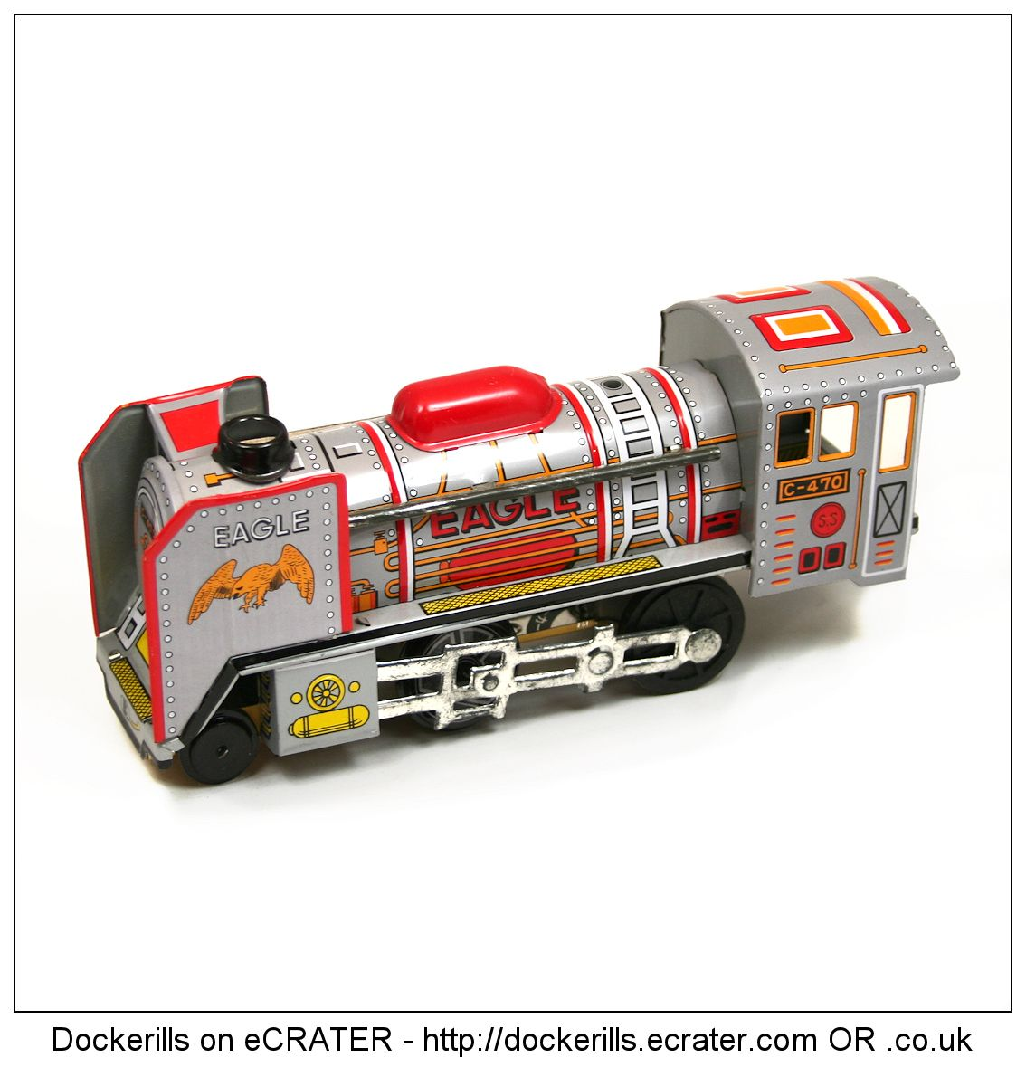 Eagle Train, Japan (2 of 2). Vintage Tin Litho Tin Plate Toy. Friction Drive Mechanism.