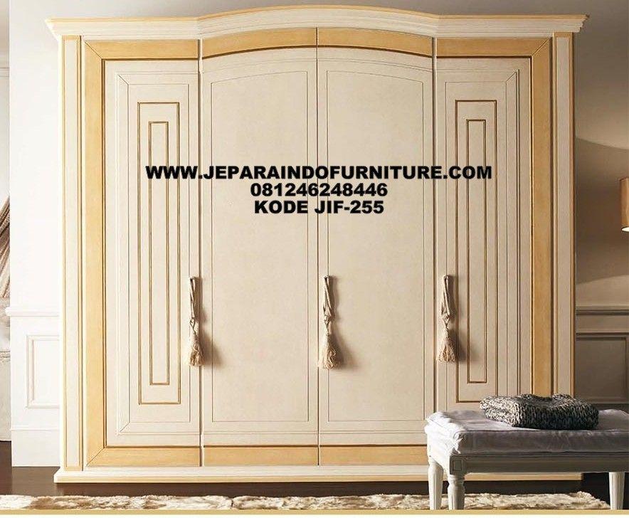 Model Lemari Pakaian 4 Pintu Modern Dengan Engsel Soft Close