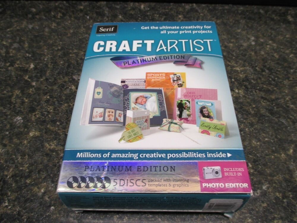eBay Sponsored New Serif Craft Artist Platinum Edition w