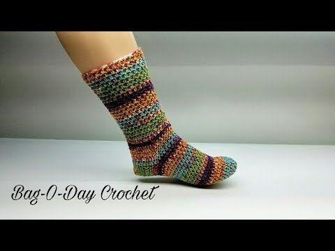 How To Crochet The Perfect Pair Of Socks Adjustable Crochet Sock