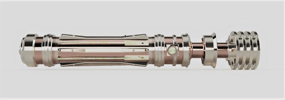 My Render Of Leia S Saber Starwarscantina Lightsaber Lightsaber Design Star Wars Light Saber