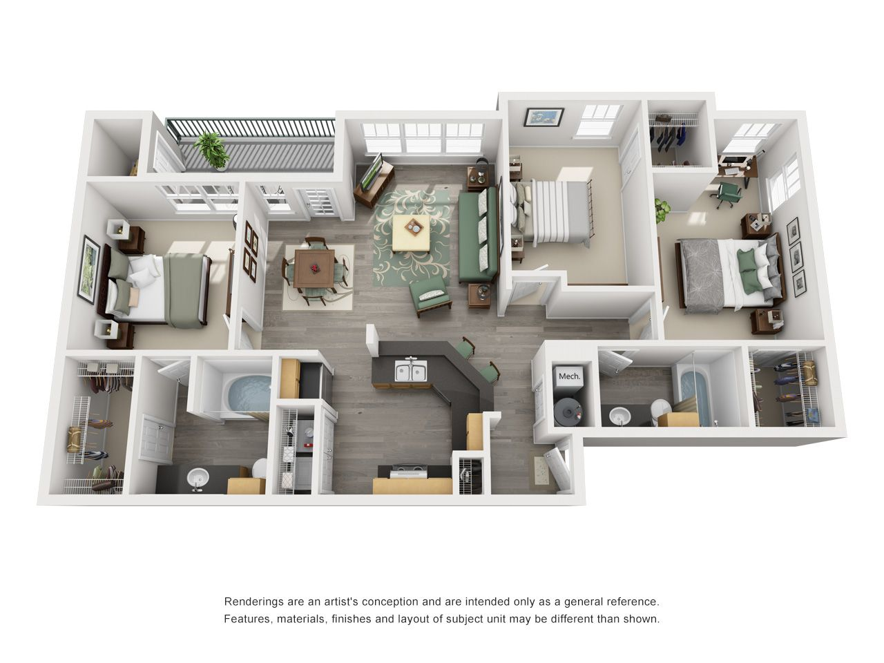 One Two Three Bedroom Apartments In Bolingbrook Il Sims House Plans House Blueprints House Layouts