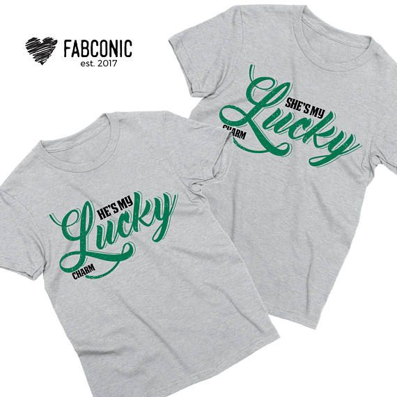 1ef96b09f St Patricks Couples Shirt, He's my lucky charm, She's my lucky charm, St  Patricks Day Couples Shirts