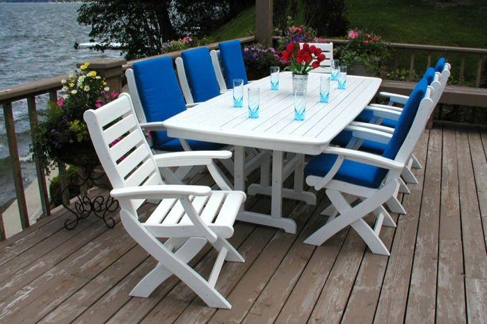 Schon Billig Gartenmöbel Set Holz Weiß. Deko