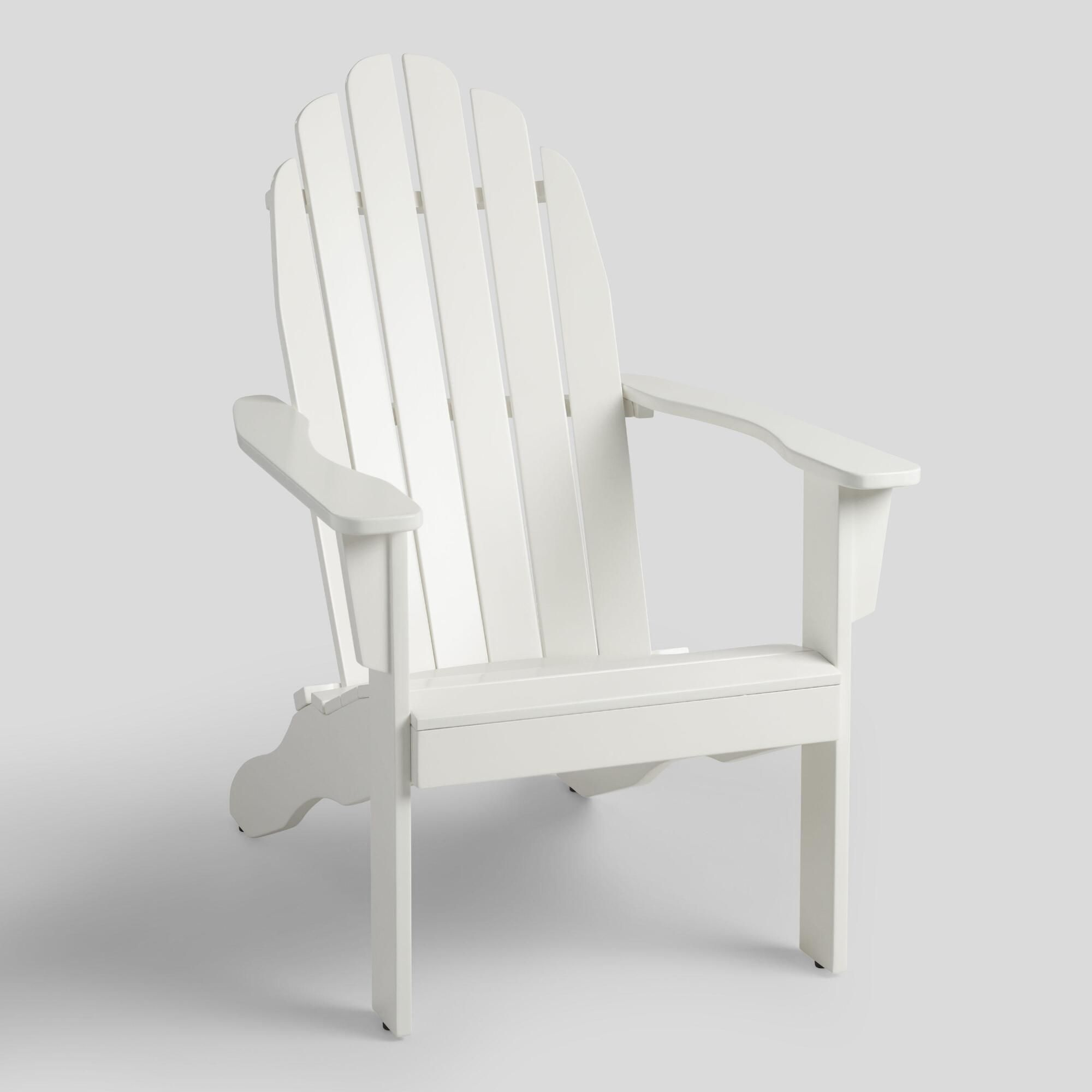 Antique White Adirondack Chair Wood By World Market White