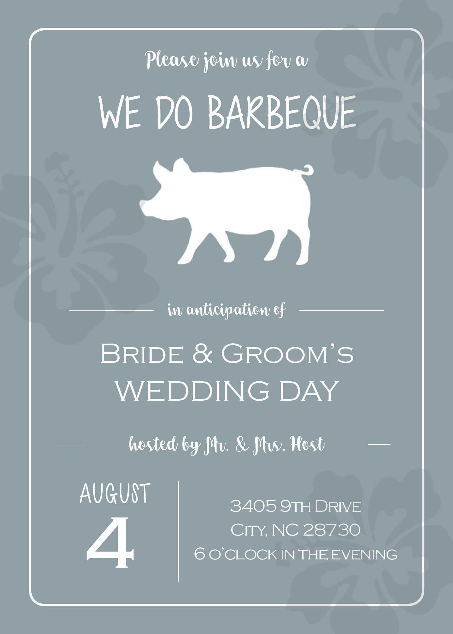 We Do Bbq Rehearsal Dinner Invitation Rehearsal Dinner Invitations