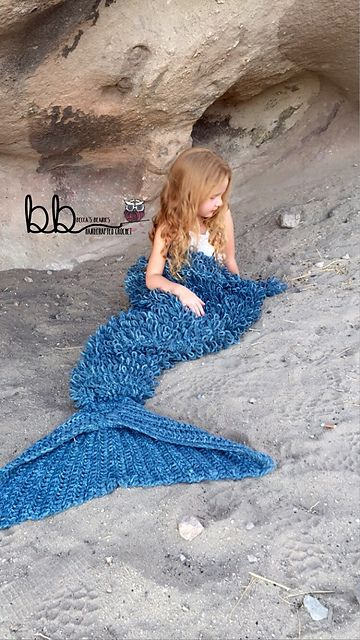 Ravelry: Mermaid Blanket with Loops pattern by Rebecca Romero