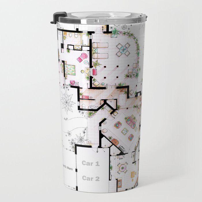The Golden Girls House Floorplan V 2 Travel Coffee Mug by Nikneuk 20 oz