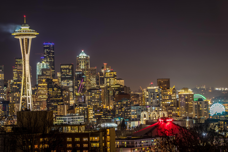 Long Exposure Of Seattle Skyline Oc 6000x4000 Seattle Skyline Seattle Washington Skyline Skyline