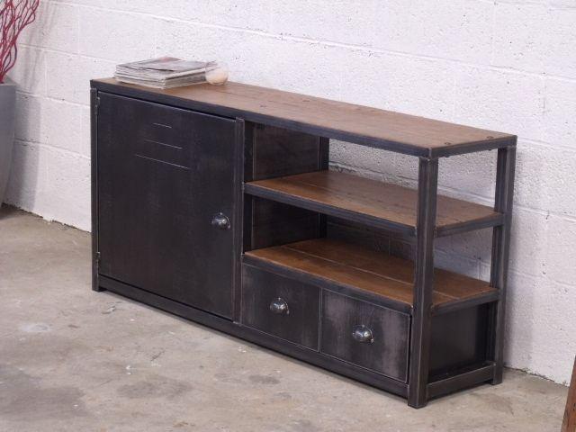meubles industriels industrial furniture pinterest. Black Bedroom Furniture Sets. Home Design Ideas