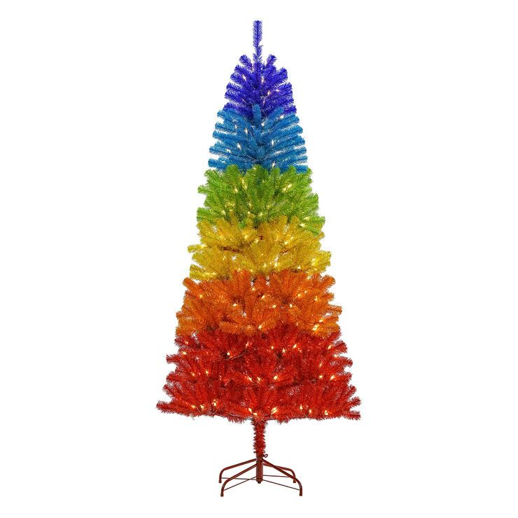 7 Pre Lit Rainbow Christmas Tree With 350 Lights F23 In 2020 Rainbow Christmas Tree Christmas Tree Shop Rainbows Christmas
