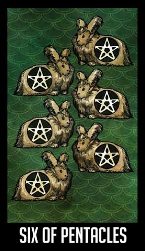 Image result for nightvale tarot six of pentacles