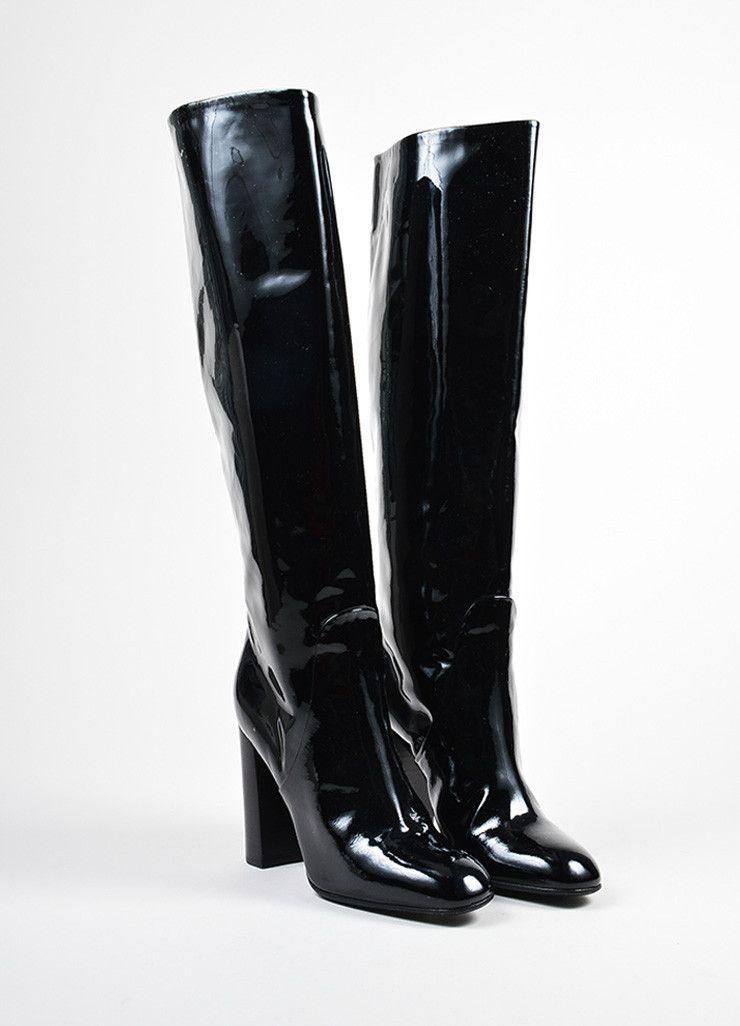 Bottega Veneta Patent Leather Knee-High Boots buy cheap 100% authentic Mk7UC